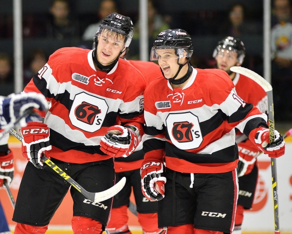 Ottawa 67's of the Ontario Hockey League. Photo By Terry Wilson / OHL Images.