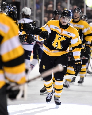 Michael Dal Colle of the Kingston Frontenacs. Photo by Aaron Bell/OHL Images