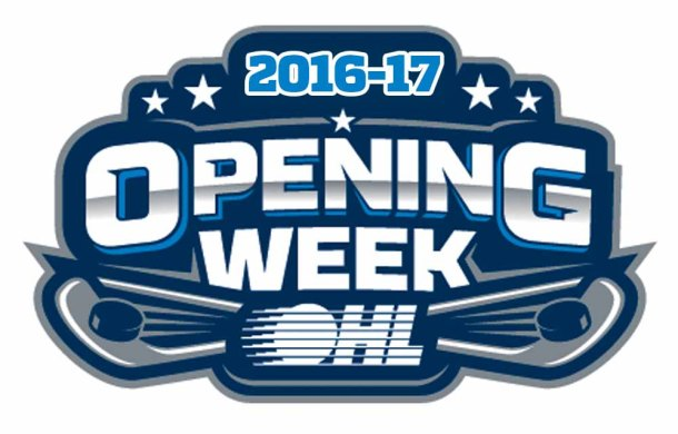 OHL Opening Week 2016-17. Logo submitted by OHL