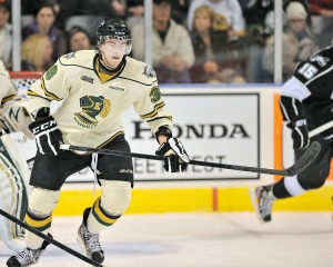 Kyle Flemington with the London Knights. CHL Images