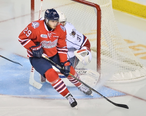 Joe Manchurek of the Oshawa Generals. Photo by Terry Wilson / OHL Images.