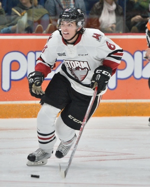 Ryan Merkley of the Guelph Storm. Photo by Terry Wilson / OHL Images.