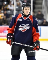 Mikhail Sergachev of the Windsor Spitfires. Photo by Aaron Bell/OHL Images