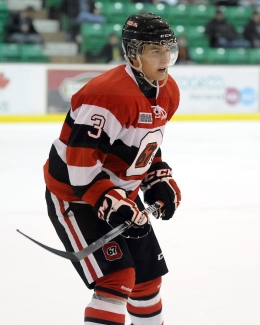Daniel Broussard of the Ottawa 67's. Photo by Aaron Bell/OHL Images