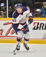 Hayden Hodgson of the Saginaw Spirit. Photo by Terry Wilson / OHL Images.