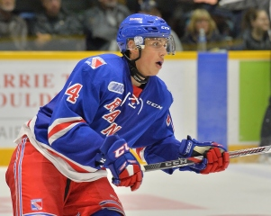 Connor Bunnaman of the Kitchener Rangers. Photo by Terry Wilson / OHL Images.