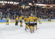 Sting players salute the hometown crowd at the Progressive Auto Sale Arena