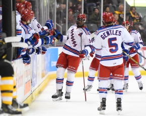 Rangers even series with another win on homeice