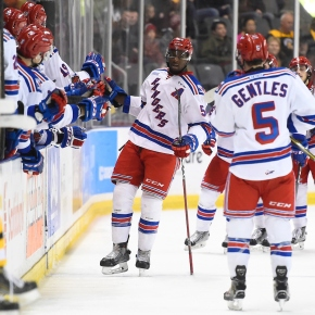 Rangers even series with another win on home ice