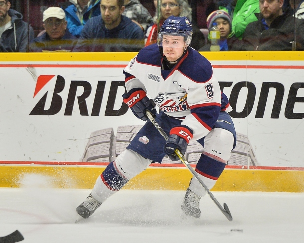 Brady Gilmour of the Saginaw Spirit. Photo by Terry Wilson / OHL Images.