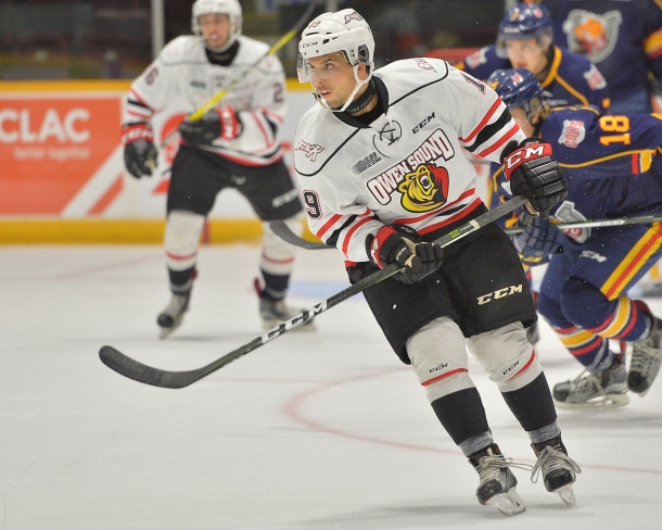 Chase Campbell of the Owen Sound Attack. Photo by Terry Wilson / OHL Images.
