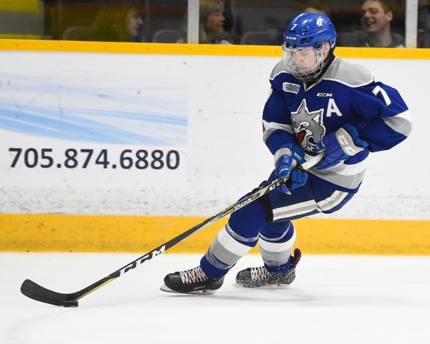 Reagan O'Grady of the Sudbury Wolves. Photo by Aaron Bell/OHL Images