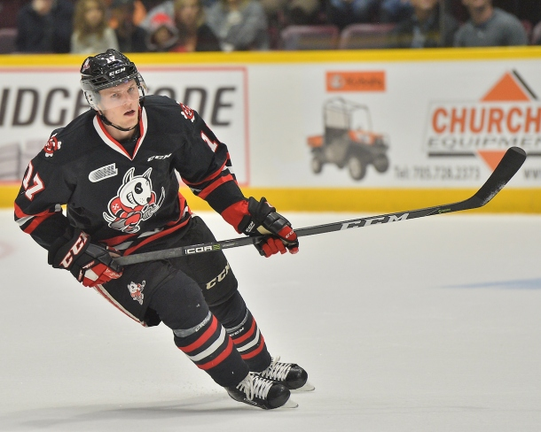 William Lochead of the Niagara IceDogs. Photo by Terry Wilson / OHL Images.