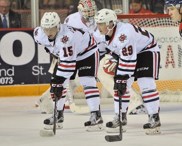 Liam Ham of the Niagara IceDogs. Photo by Terry Wilson / OHL Images.