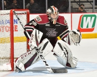 Few goalies have been busier than Peterborough's Hunter Jones this season (OHL Images)