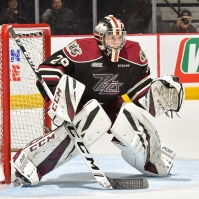 Few goalies were busier than Peterborough's Hunter Jones this season (OHL Images)