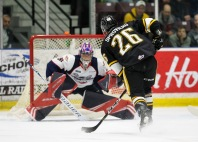 Colton Incze joined the Spitfires this season in a trade from Niagra (Metcalfe Photography)
