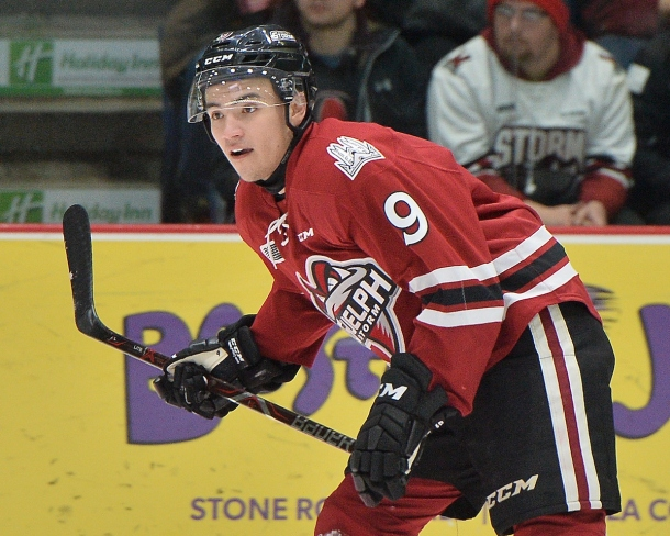 Nick Suzuki of the Guelph Storm. Photo by Terry Wilson / OHL Images.