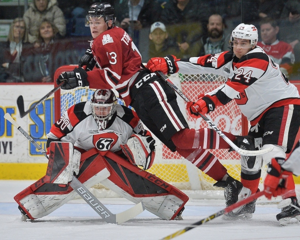 Alexey Toropchenko of the Guelph Storm. Photo by Terry Wilson / OHL Images.