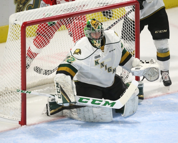 Joseph Raaymakers of the London Knights. Photo by Luke Durda/OHL Images