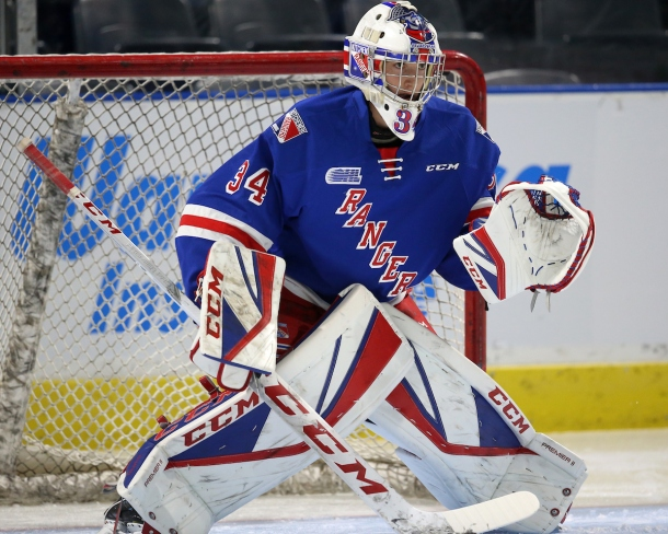 Luke Richardson of the Kitchener Rangers Photo by Luke Durda/OHL Images