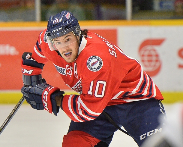 Anthony Salinitri of the Oshawa Generals. Photo by Terry Wilson / OHL Images.