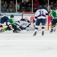 The London Knights get an early chance in Saginaw.