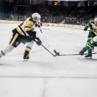 Arthur Kaliyev chases down a rebound