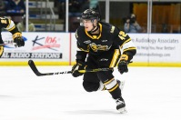 Peter Stratis makes his debut for the Sarnia Sting (Metcalfe Photography)
