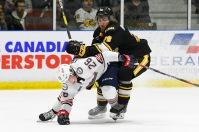 Philip Tomasino plays his second game with the Oshawa Generals (Metcalfe Photography)